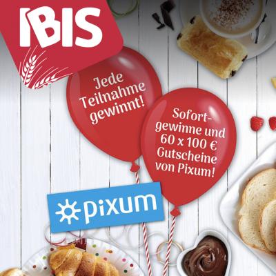 IBIS Gewinnspiel: 100 Euro Pixum Gutschein zu gewinnen