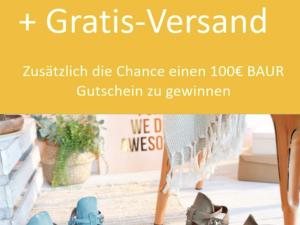 BAUR Gewinnspiel: 100 Euro Shopping-Gutschein zu gewinnen