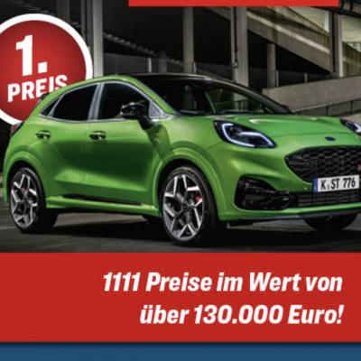 kicker Gewinnspiel: Ford Puma ST zu gewinnen
