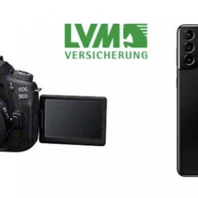 LVM Versicherung Gewinnspiel: Canon Digitalkamera, Samsung Smartphone zu gewinnen