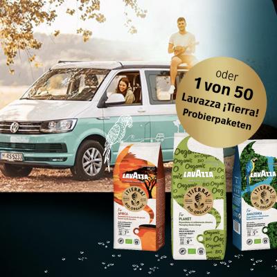 Lavazza Gewinnspiel: Camper-Gutschein und Produktpaket zu gewinnen