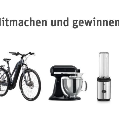 REWE Gewinnspiel: E-Bikes, Kitchen Aid Starterset und Smoothie Maker zu gewinnen