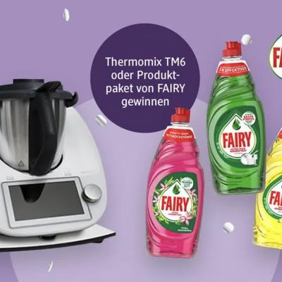 dm drogeriemarkt Gewinnspiel: Thermomix und Fairy Produktpakete zu gewinnen
