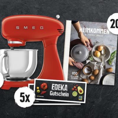 EDEKA Gewinnspiel: SMEG Küchenmaschine und EDEKA Kochbücher zu gewinnen