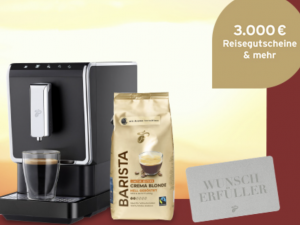 Tchibo Gewinnspiel: Kaffeevollautomaten und Gutscheine zu gewinnen